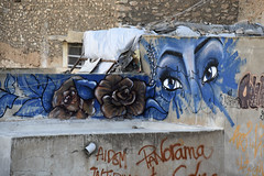 Graffiti eyes (papajoesm) Tags: blue eyes graffiti sfax medina tunisia march travel
