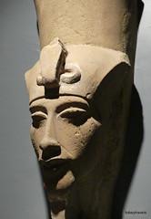 Akhenaten (Amenhotep IV) with Double Crown, Luxor Museum (1).JPG (tobeytravels) Tags: thebes egypt amonispleased aten usefulforaten newkingdom sandstone
