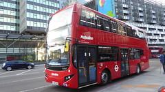 P1150295 VMH2549 LA68 DXV at Warren Street Station Hampstead Road Euston London (LJ61 GXN (was LK60 HPJ)) Tags: metroline volvob5lhybrid mcv evoseti mcvevoseti 105m 10490mm vmh2549 la68dxv nb954