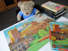 I looked it up in Mum's books! (pefkosmad) Tags: jigsaw puzzle hobby leisure pastime vintage philmar exetercathedral painting art illustration famouscathedralsseries complete used secondhand over400pieces aevincent tedricstudmuffin teddy ted bear animal toy cute cuddly fluffy plush soft stuffed