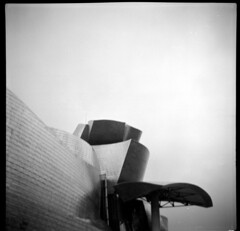 Guggenheim Bilbao (Alberto Cabello Mayero) Tags: fomapan100 agfaclicki agfa bilbao lofi analog