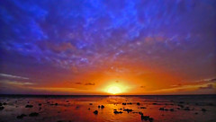 French Polynesia - Coral partially out of the water (Jacques Rollet (VERY SICK)) Tags: sunset couchant mer sea polynesia ciel sky cloud nuage soleil sun groupenuagesetciel