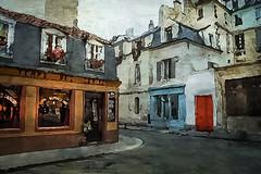 Vision de rue (jeanfenechpictures) Tags: rue street maisons houses immeuble building paris france marais iledefrance ruelle backstreet streetpictures café coffeeshop devanture frontage