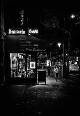 le p'tit boulevard (christiandumont) Tags: monochrome streetphotography streetphoto streetlife street blackandwhite blackwhite black white bw nb noiretblanc night nuit rue paris rudeparis x100f fujifilm