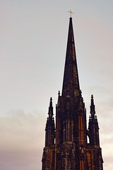 Beyond the gray sky (Pictures in my head) Tags: scotland edinburgh edimbourg sky beyond gray colours ciel building church bricks red nature explore explorer discover holiday happy free time student friends history view photography beauty architecture postca postcard autumn art ancient amazing horizon enjoy entrance exhibition dark students quality majestic knowledge landscape light experience city clouds castle visit buildings new national