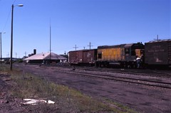 Clear summer day (ujka4) Tags: chicagonorthwestern cnw gp151 4403 spooner wisconsin wi depot