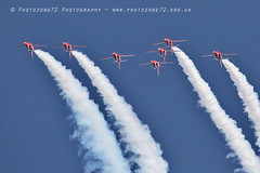 0008 7 ship loop R1 R2 R3 R5 R6 R7 R9 (photozone72) Tags: raf rafat redarrows reds redwhiteblue aviation aircraft jets hawk canon canon100400f4556lii canon7dmk2 7dmk2 scampton lincolnshire