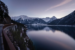 Sunset over Achensee, Tyrol / Austria (_striki_) Tags: achensee alpen alps aussen austria blauestunde bluehour europa europe goldenhour goldenestunde hike jahreszeit lake landscape landschaft langzeitbelichtung longexposure natur nature outdoor season see sonnenuntergang sunset tirol tyrol wanderung wasser water winter ãsterreich