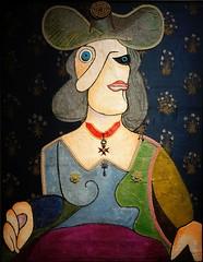 Woman with hat (Bosc d'Anjou) Tags: italy milan milano intesasanpaolo gallerieditalia enricobaj woman portrait picasso collage