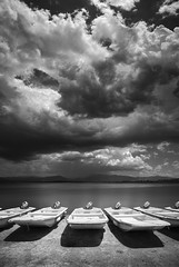 San Diego : Santa Ysabel (William Dunigan) Tags: san diego east county lake henshaw santa ysabel black white photography landscape monsoon storm summer clouds rain boats southern california