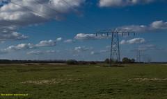 High voltage pylons in the landscape (Bert de Boer) Tags: high voltage pylons landscape bertdeboer bertop netherlands groningen wwwbertopnl landschapen landscapes landschap nederland l