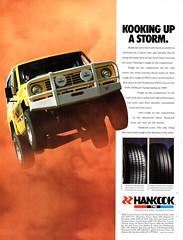 1990 Hankook Tyres Nissan Patrol 4WD Aussie Original Magazine Advertisement (Darren Marlow) Tags: 1 9 19 90 1990 h hankook t tyres n nissan p patrol 4 w d 4wd c car cool a automobile v vehicle 90s