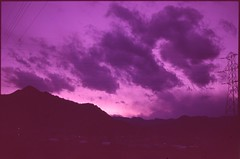 (✞bens▲n) Tags: contax g2 kodak dyna 100 carl zeiss 45mm f2 film analogue slide expired sky clouds landscape nagano japan mountains evening dark
