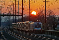"""The Susnset Route"" (Erie Limited) Tags: nec northeastcorridor njt njtransit alp46a bombardier edisonnj commuter train railfan railroad"