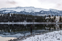 Wallowa Lake Maria (Tanner Wendell Stewart) Tags: ifttt 500px wallowa lake oregon large megapixel winter explore travel adventure girl hiking exploring mt joseph mountains mountain reflection epic cold blue clean cabin scene woman dslr format serene nw pnw
