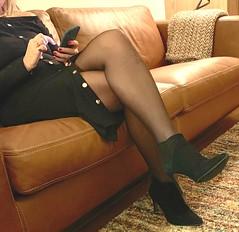 MyLeggyLady (MyLeggyLady) Tags: nobra nopanties garter nylons stockings sex thighs hotwife milf sexy secretary teasing leather crossed boots stiletto heels legs