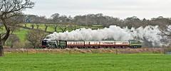 winter britannia (midcheshireman) Tags: steam train locomotive cheshire mainline 70000 britannia