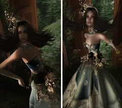 Come back spring, do not go... (MISS VIRTUAL ♛ WORLD 2018 - Shantal Gravois) Tags: irrisistible swankevent shantalgravois missvirtualworld2018 missv♛venezuela2018 dust spring gown dress mesh women woman outfit accessories clothes template silk lace victorian romantic marquise collar necklace bangle hairs headpiece maitreya sofia belleza hourglass slink flower fantasy