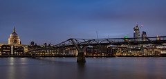 Bridging the old to the new... (Aleem Yousaf) Tags: bridge old new architecture stpauls cathedral anglican bishopoflondon mother church diocese ludgate hill gradei 22 bishopsgate millennium river thames footbridge suspension cheesegrater scalpel tower 42 morning blue hour light panorama national camera digital clouds long exposure january cold flickr photography nikon d810 nikkor wide angle 1835mm design modern london buildings