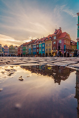 After the rain (Vagelis Pikoulas) Tags: poland 2019 europe travel poznan canon 6d tokina water rain reflection reflections mirror houses colour colours colors color january winter urban vertical city cityscape landscape