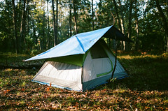 Edit -1-15 (Dane Van) Tags: canon rebelg eos 500n 50mm18ii plasticfantastic niftyfifty thriftyfifty kodak portra400 puremichigan michigan upnorth camping tent woods film