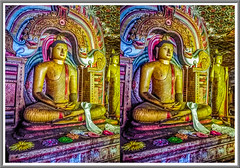 Respect in the cave 3D (Immagini 2&3D) Tags: dambulla srilanka 3d stereoscopy stereophotography buddhism buddha statue