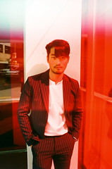 (Džesika Devic) Tags: seoul korea korean model portrait editorial canonae1 lightleak red window asia film 35mm kodak street explore explored flickr