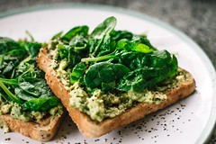 Avocado bread breakfast - Credit to https://homegets.com/ (davidstewartgets) Tags: avocado bread breakfast closeup cuisine delicious dinner dish food health healthy herb homemade kitchen lunch meal pepper plate slice spinach table tasty toast vegetable