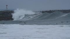 MVI_3999 (supercrans100) Tags: the wedge big waves so calif beaches photography surfing body bodyboarding skim boarding drop knee