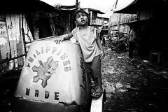 Philippines Made - Manila, Philippines (LA Street Moments) Tags: poverty manila philippines baseco bnw bw blackandwhite leica leicaq blackandwhitephotography streetphotography documentaryphotography children kids monochrom