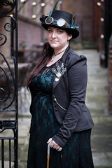 Portrait from the Whitby Steampunk Weekend V - Ohh La La (Gordon.A) Tags: yorkshire whitby steampunk whitbysteampunkweekend v wsw february 2019 convivial festival event eventphotography culture subculture lifestyle creative costume hat goggles people lady woman face model pose posed posing outdoor outdoors outside wall lights depthoffield dof day daylight naturallight colour colours color amateur street portrait portraitphotography digital canon eos 750d sigma sigma50100mmf18dc