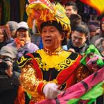 Banner waver at the Chinese Lunar New Year Parade thumbnail