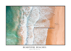Australian Beach scape scene (sugarbellaleah) Tags: summer beach vibe recreation leisure swim sand ocean surf surfers active seaside aeriaol patterns texture pretty water beautifuol wavy scenic footprints seashore season australia light pastel colour manly freshwater coast coastal art image pipeline newsouthwales au
