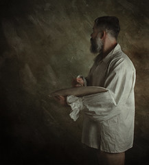 Painting a background. (jcalveraphotography) Tags: selfportrait selfie serie studio beard bearded portrait photo photographer projects people picture person painting pictorialism pictoric 365 explore 365days exploration fineart