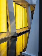 Paris 2019: Silhouette (mdiepraam) Tags: paris 2019 fondationlouisvuitton architecture building grotto pond reflection