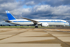 4xedfb789elalretrolhr (wingnut1000) Tags: retrojet airline aircraft aviation boeing 4xedf egll lhr b787 dreamliner elal