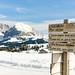 Wegeschilder auf der Seiser Alm | Südtirol | Dolomiten