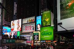 Grunch (Jocey K) Tags: sonydscrx100m6 triptocanadaandnewyork architecture buildings evening illumination billboards timessq nighttourhopandhopoffbus people crowds words signs