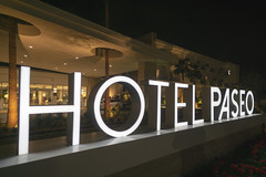 Hotel Paseo facade (jtgfoto) Tags: approved hotelpaseo palmdesert coachellavalley california sonyimages sonyalpha sign night nightshot nightscape hotel facade rokinon rokinon12mm wideangle wideanglephotography wideanglephoto