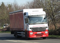M & K Green FJ57 NZC at Welshpool (Joshhowells27) Tags: lorry truck warrington mercedes mercedesbenz actros mercedesactros mercedesbenzactros curtainsider fj57nzc mkgreen