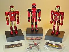 Bandai – Chogokin Heroes Series – Iron Man Mk 3, Deadpool & Iron Man Mk 50 – Out of Boxes (My Toy Museum) Tags: bandai marvel heores diecast chogokin action figure iron man deadpool