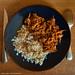Pulled-Pork au vinaigre doux et son  riz complet.