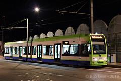 Croydon Tramlink 2553 (Bob Lear) Tags: bombardier tfl tramlink 2553 tramlink2553 firstgroup cr4000 trams croydon urban night street uktramsystems uktrams