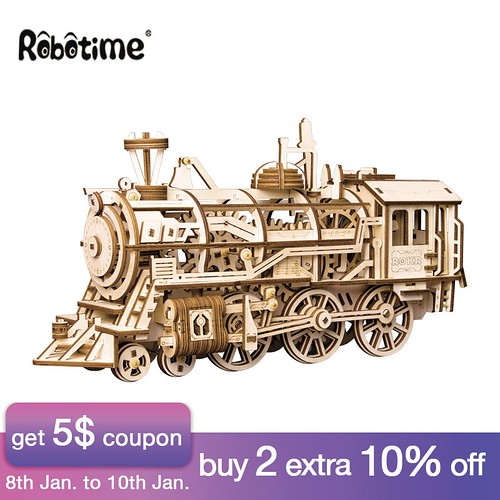 US $45.0 40% OFF|Robotime DIY Clockwork Gear Drive Locomotive 3D Wooden Model Building Kits Toys Hobbies Gift for Children Adult LK701-in Model Building Kits from Toys & Hobbies on Aliexpress.com | Alibaba Group