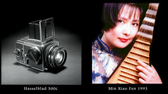 Hasselblad 500c and Min Xiao Fen (jimhairphoto) Tags: hasselblad 500c minxiaofen pipa musician china 1993 reala 120 film newyork sanfrancisco jimhairphoto