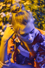 Racconto di Primavera (Michela Riva Photography) Tags: spring springtime fashionphotography fashion fashioneditorial fairytale fairy nymph roses garden rosesgarden beautiful blonde oriental kimono colors colorful model alone waiting dreamy sleeping standing umbrella pink cyan violet red flowers yellowandviolet night shoot nightshot availablelight mysterious moody suggestive likeapainting photography painting art portrait woman petzval 85mm lomography italy trieste europe girl beauty editorial yellowandpurple romantic emotional emotion attractive