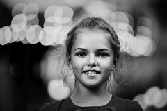 Young and happy (Unicorn.mod) Tags: 2018 monochrome blackandwhite blackwhite bw portrait girl young bokeh evening shadows lights canoneos6d canon canonef70200mmf28lisiiusm