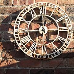 101/365 Garden clock (KatyMag) Tags: clock garden gardenclock wallclock theflickrlounge weeklytheme roundandround
