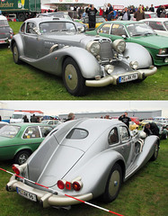 Autobahnkurier (Schwanzus_Longus) Tags: classic design early engine german germany hildesheim hood huge large long modern oldtimer power powerful silver streamlined twin v8 vintage isdera technorama 116i new old autobahnkurier
