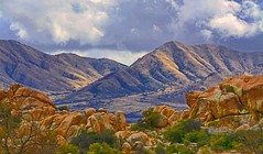Then the wind blew cool through the pinyons on the rim. There was a sweet tang of cedar and sage on the air and that indefinable fragrance peculiar to the canyon country of Arizona. ~~Zane Grey (Irene2727) Tags: canyon rocks mountain boulders landscape scape panorama